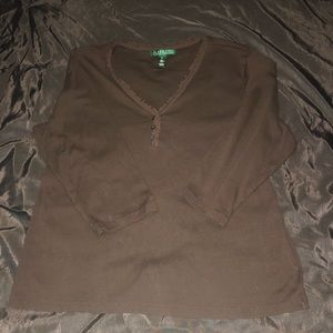 Lauren brown shirt